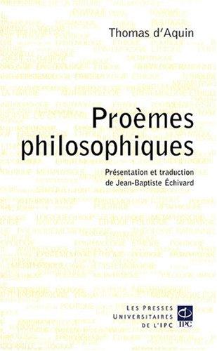 Les proèmes philosophiques